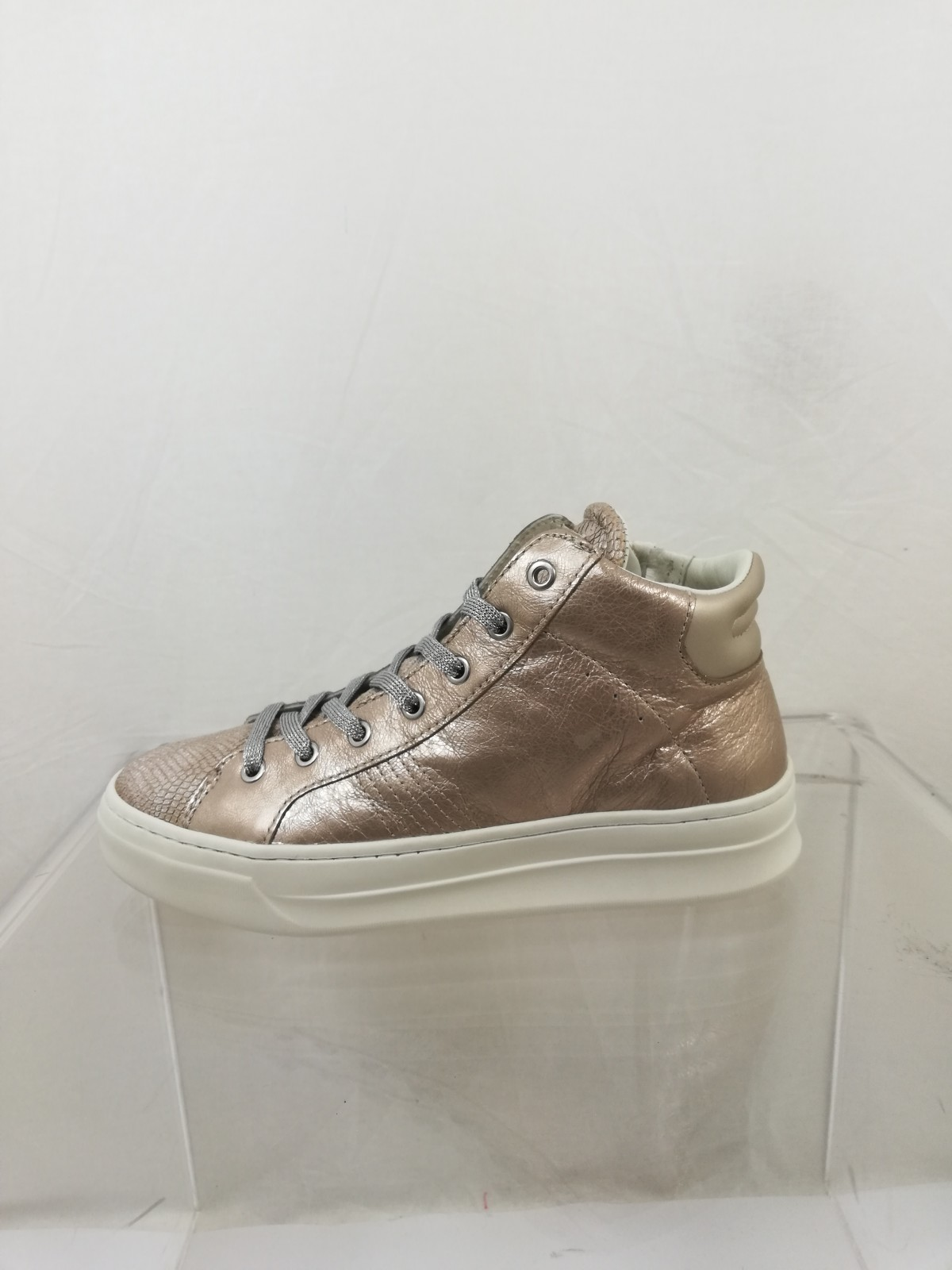 London Real SneakersMetallized Leather High Top EffectCrime WE2Ie9DYH
