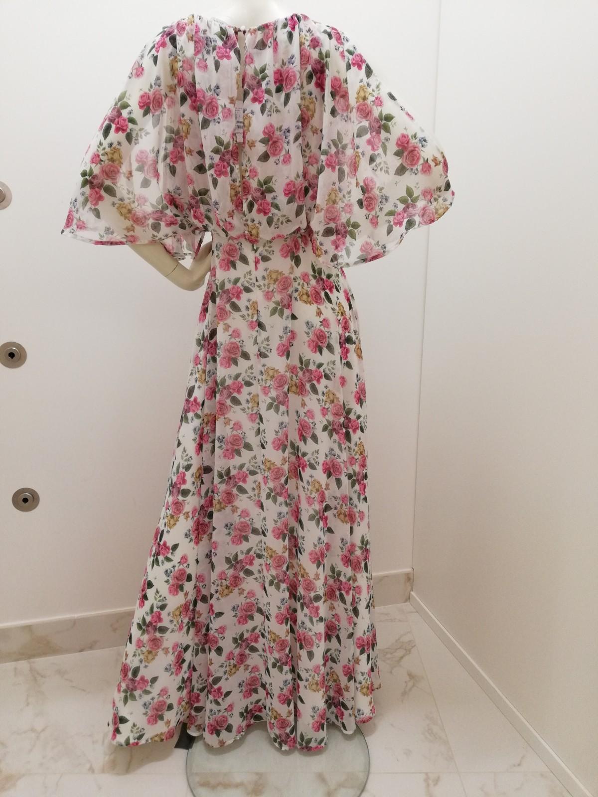 timeless design 00179 9e691 abito lungo fiori Linea Emme by Marella